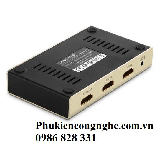 Bộ chia HDMI 1 ra 2 hỗ trợ 4K 2K chính hãng Ugreen UG-40276 2