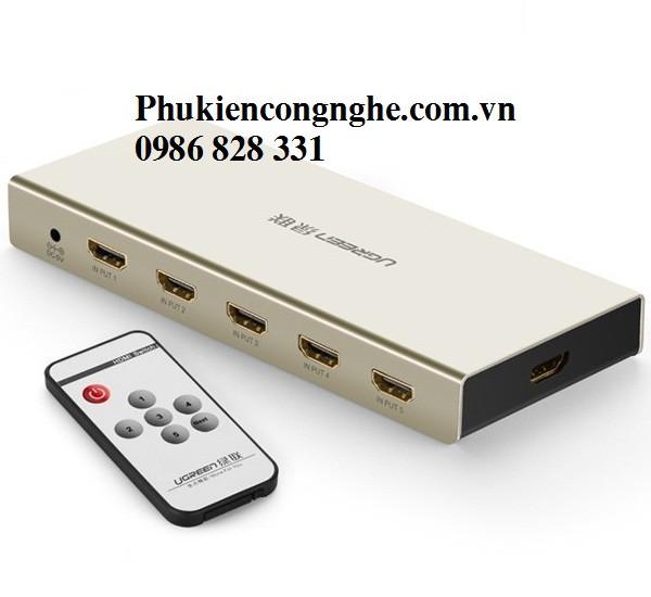 Bộ gộp HDMI 5 vào 1 ra hỗ trợ 4k x 2k chính hãng Ugreen UG-40279 1