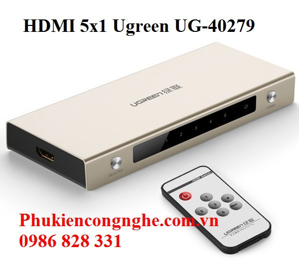 Bộ gộp HDMI 5 vào 1 ra hỗ trợ 4k x 2k chính hãng Ugreen UG-40279 3