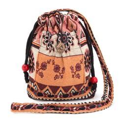 Túi đeo dây rút thời trang thổ cẩm họa tiết độc đáo Hoian Gifts HA-25