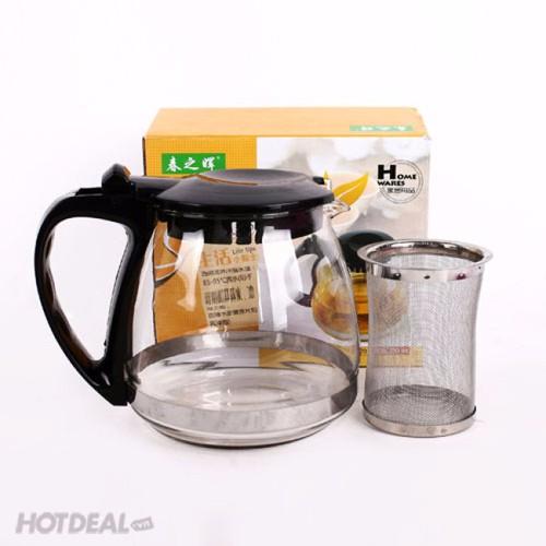 Bình pha trà 700ml- bình trà có lưới lọc- bình trà thủy tinh - 11214248 , 13759454 , 15_13759454 , 89000 , Binh-pha-tra-700ml-binh-tra-co-luoi-loc-binh-tra-thuy-tinh-15_13759454 , sendo.vn , Bình pha trà 700ml- bình trà có lưới lọc- bình trà thủy tinh