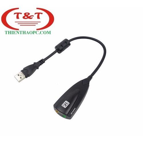 Cáp chuyển USB sound sang âm thanh 3D 7.1 Đen
