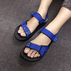 Giày sandals quai dù màu xanh SDQN62