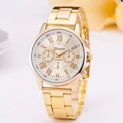 Đồng hồ Geneva dây kim loại nam