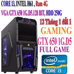 CASE Chiến GAME GTA 5... H61,CORE I3,HDD 250G,VGA Rời GTX 650 1G.D5
