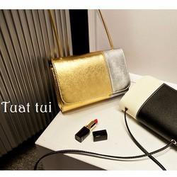 Túi xách metalic pha màu - T108
