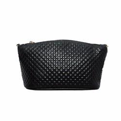 Túi đeo chéo nữ cỡ nhỏ da bò vân cá sấu cao cấp ELMI màu đen ETM553