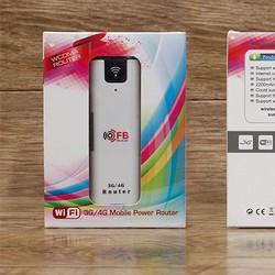 bộ phát wifi bằng sim 3G 4G kiêm pin dự phòng