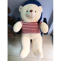 Gấu bông Teddy lông kem 1m