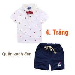 Bộ Tshirt gắn nơ lịch lãm cho bé trai năng động