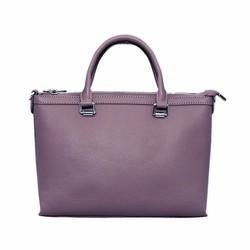 Túi xách nữ da bò thật cao cấp ELMI màu tím ETM569