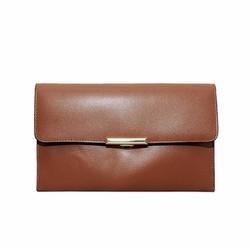 Túi đeo chéo nữ cỡ nhỏ da bò thật cao cấp màu nâu vàng ETM556