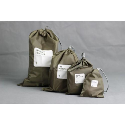 Bộ 4 túi rút du lịch chống thấm Lucky Pouch nâu - 4101895 , 4443416 , 15_4443416 , 80000 , Bo-4-tui-rut-du-lich-chong-tham-Lucky-Pouch-nau-15_4443416 , sendo.vn , Bộ 4 túi rút du lịch chống thấm Lucky Pouch nâu