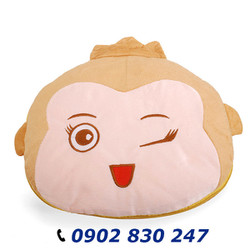 Mền gối 2 trong 1 vải gòn khỉ cute - A10497BB