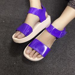 Sale off - Giày sandals nhựa đế bánh mì màu tím SDQN64