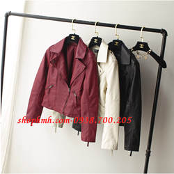 Áo khoác da nữ cao cấp - ZK488