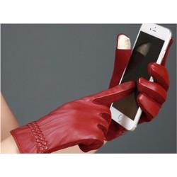 Sỉ lẻ Găng tay da lót nỉ lông, cảm ứng màn hình smartphone Free size