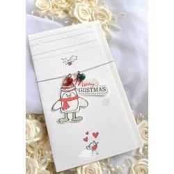 Thiệp Noel Chim đón giáng sinh