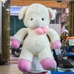 Cừu nơ hồng nhồi bông - Gấu bông Cừu