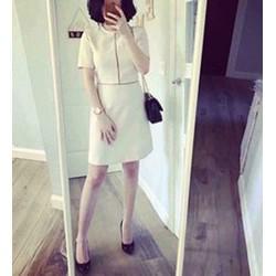 Đầm suông tay con viền ren đơn giản dễ thương