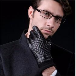 Sỉ lẻ Găng tay da cổ len Loại 1 cảm ứng lót lông ấm áp.Free size