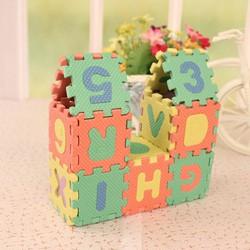 Bộ đồ chơi xếp hình chữ và số cho bé