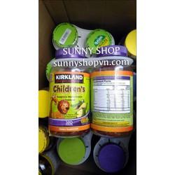 Kẹo Dẻo Kirkland Childrens Complete Multivitamin Gummies 160v