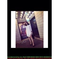 Đầm suông kiểu cổ sơ mi dài tay trẻ trung thời trang công sở DSV167