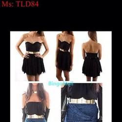 Dây nịt nữ mang đầm bản kim loại to sang trọng đẳng cấp TLD84