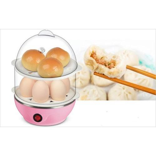 Nồi luộc trứng và hấp thức ăn 2 tầng đa năng