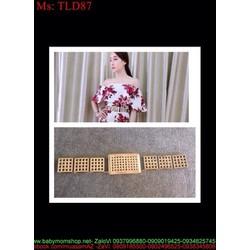 Dây nịt nữ mang đầm bản nhỏ kiểu ô lỗ sành điệu sang trọng TLD87