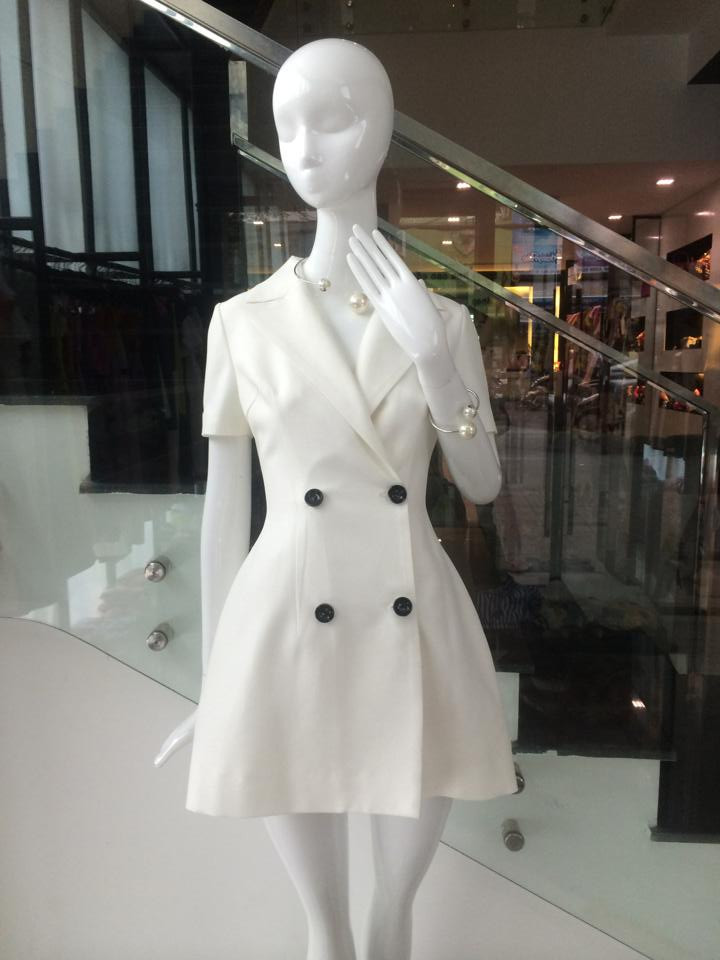Đầm đi tiệc sang trọng với thiết kế giả vest như Ngọc Trinh DV395 2