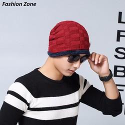 nón len phủ tai mùa đông dệt kim mũ len Hàn Quốc