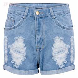 Quần short jean rách thời trang