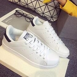 [Greenlife Shop] Giày Thể thao trắng phối gót đen
