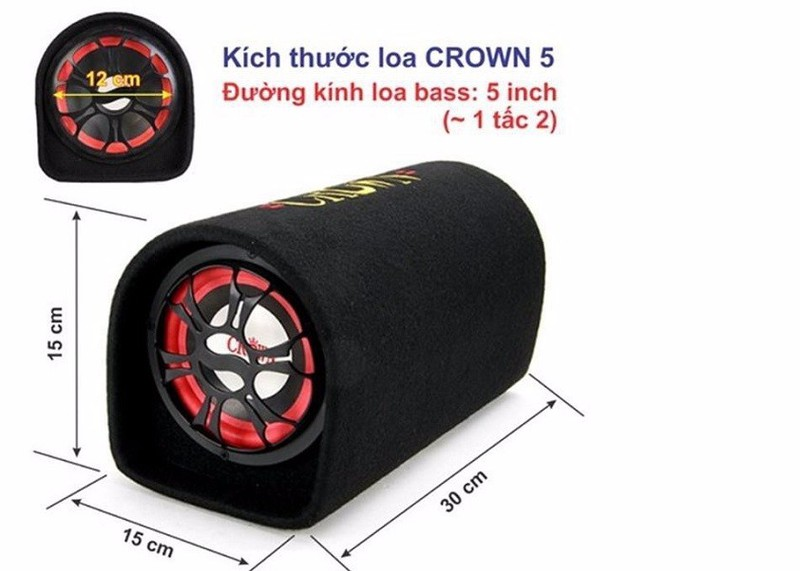 Loa Crown cỡ số 5 4