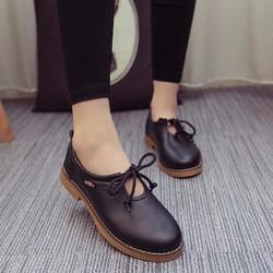 Giày cột nơ xinh xắn da mềm