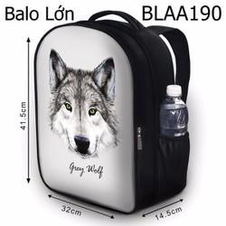 Balo học sinh Bộ thú Sói nền xám - VBLAA190