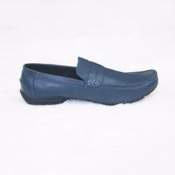 Giày mọi da bò cao cấp nam xanh Navi