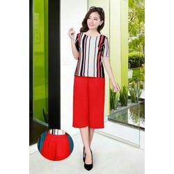 sét áo sọc quần đỏ -hàng shop 459QA10-hot sale
