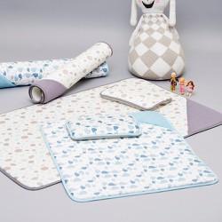 Babymuffin - Combo đệm và gối thoáng khí - Đại dương xanh