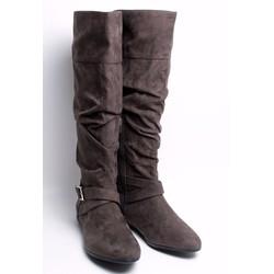 Giày boot da lộn khóa chéo dưới gối - hàng xuất khẩu cao cấp