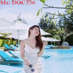 Đầm body 2 dây trẻ trung chất liệu vải ren sang trọng DOC336