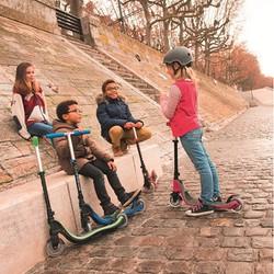 Xe trượt scooter 2 bánh GLOBBER MY TOO FIX UP - Đen phối xanh