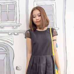 Đầm xòe xếp ly hàng nhập- design by Korea