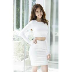 Set váy áo croptop Ngọc Trinhthiết kế ôm body tôn dáng M31107
