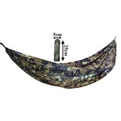 Võng dù vải màu bộ đội tặng kèm dây dù 6m