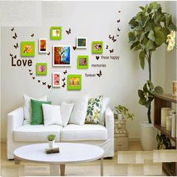 khung ảnh gỗ thông treo tường chữ LOVE BINBIN KAT15