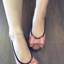 Giày búp bê nơ đêm chân êm ấm dễ thương