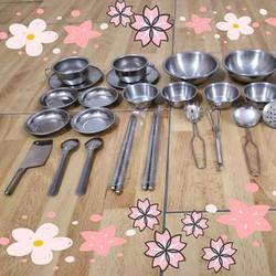 Bộ đồ chơi nấu ăn inox Nhật Bản 40 món
